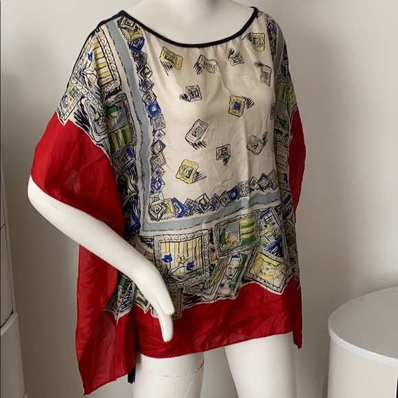 Anthropologie Tops - Anthropologie Artist's Way Scarf Top by Bailey 44